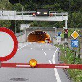 Sperre des Achraintunnels