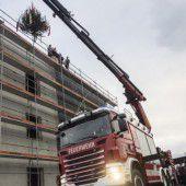 Rohbau für Feuerwehrhaus ist fertig