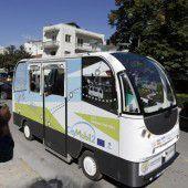 Fahrerlose Busse in  Griechenland unterwegs