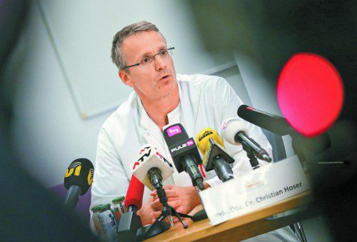 Dr. Christian Hoser operierte Anna Fenninger.