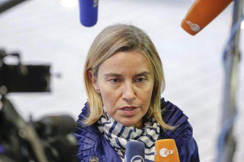 Federica Mogherini: EU-Sanktionen, wenn kein Frieden kommt.