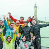 Viel Spaß trotz Regens hatte die Russmedia-Laufsportgruppe