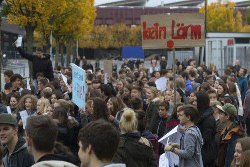 Im vergangenen Herbst protestierten die Sportgymnasiasten wegen des Lärms öffentlich.
