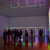Lichtinstallation von Miriam Prantl im Museum Ritter