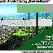 Neuer Aussichtspunkt am Dornbirner Hausberg