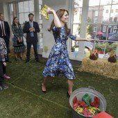 Royals werfen mit Gummistiefeln