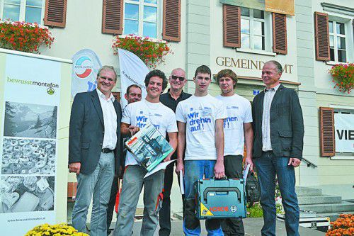 Harald Sonderegger, Michael Spalt, Elia Erhard, Norbert Nicolussi, Philipp Höfle, Elias Wachter und Stefan Hepp.