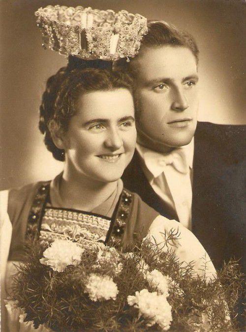 Hochzeit am 24. Oktober 1955.