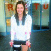 Anna Fenninger durfte das Spital verlassen