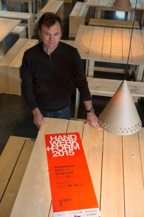 """Peter Fink ist """"Geburtshelfer"""" des Werkraum Bregenzerwald. Bei Handwerk+Form ist er zum zweiten Mal am Start."""