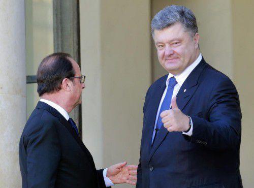 Präsident Poroschenko erwartet sich beste Ergebnisse.