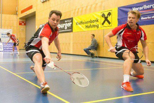 Rene Nichterwitz (l.) und Matevz Bajuk haben noch eine lückenlose Saisonbilanz im ersten Herren-Doppel.