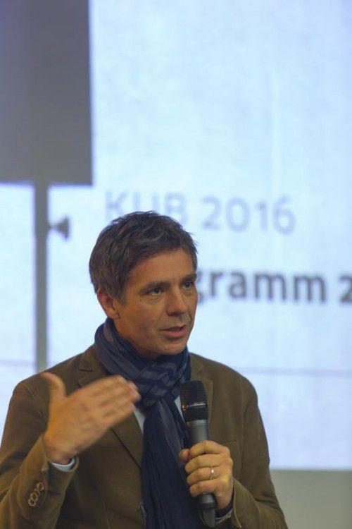 Thomas D. Trummer präsentierte erstes KUB-Programm.