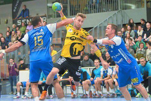 Tobias Warvne zählte zu den Aktivposten bei Bregenz beim 34:30-Erfolg über Linz.