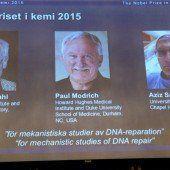 Chemie-Nobelpreis für drei Erbgut-Forscher