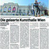 Der Patient Kunsthalle Wien ist auf Besucher- und bald auf Chefsuche