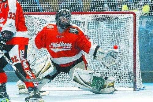 Walkers-Goalie Jürgen Bereuter und seine Kollegen wurden erst im Finale der Schweizer Inlinehockeyliga gestoppt.