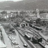 vorarlberg einst und jetzt. Die Haltestelle Vorkloster der Bregenzerwaldbahn