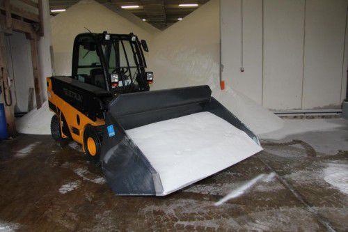 3900 Tonnen Salz stehen diesen Winter in den Depots für die Streuung auf den Straßen bereit.