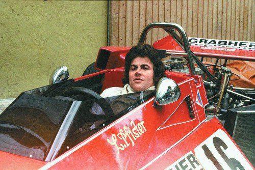Alois Pfister im Brabham BT 40 1977 in Walzenhausen.