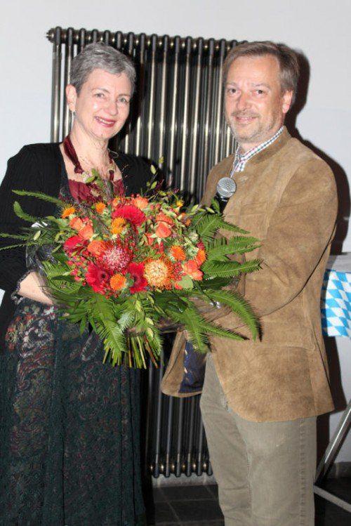 Andreas Köb übergab Ulrike Willam-Kinz den Vorsitz des Vereins der Vorarlberger in Wien.