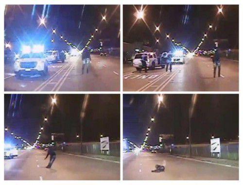 Beim Prozess wurde auf richterliche Anordnung ein Polizeivideo veröffentlicht, das das Geschehen zeigt und sofort Proteste auslöste.