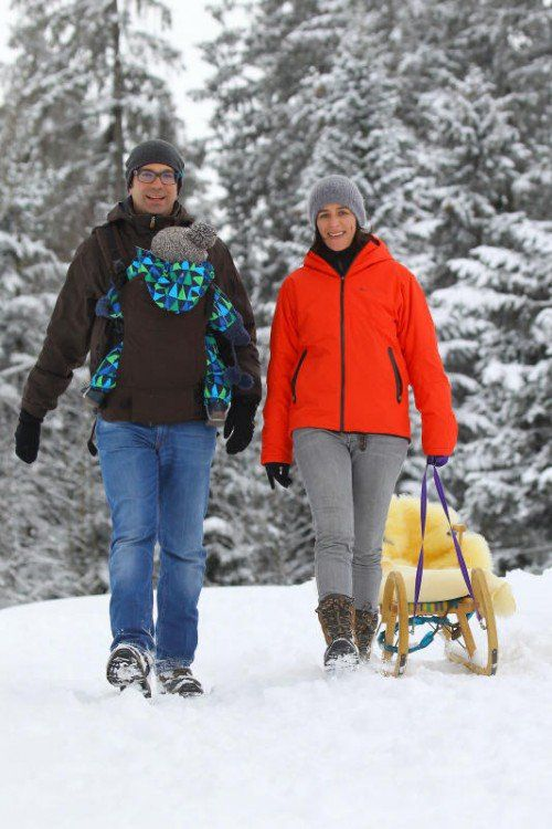 Das Bödele oberhalb von Dornbirn bietet Wintersportbegeisterten neben schönen Skipisten auch zahlreiche Winterwanderwege.