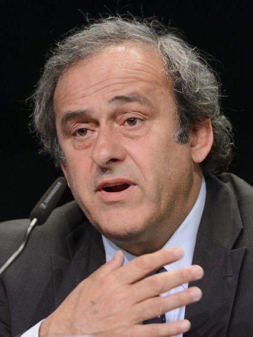 Der gesperrte UEFA-Präsident Michel Platini.