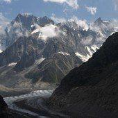 Starke Schmelze beim Gletscher Mer de Glace