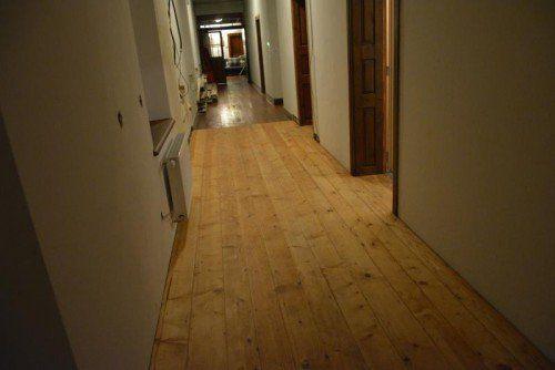 Derzeit werden die Fußböden im Kloster erneuert.