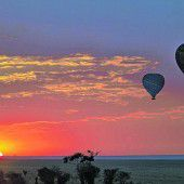 Ballonfahrt über der Wüste