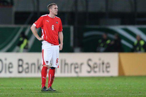 Die Enttäuschung über das 2:4 gegen Deutschland stand dem Altacher Lukas Jäger nach dem Spiel ins Gesicht geschrieben.