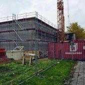 Baufortschritt am Musikheim