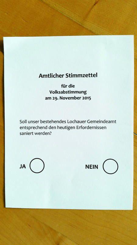 Die Formulierung auf dem Stimmzettel war Anlass für Kritik.