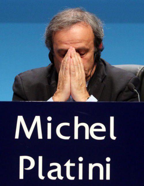 Die Funktionärskarriere von Michel Platini scheint zu Ende zu gehen.