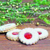 Weihnachtliche Ischler Kekse