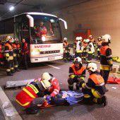 Rettungsübung mit den Bayern im Tunnel