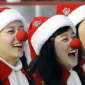 Lustige Weihnachtsfrauen