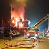Gasthaus zerstört