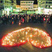 Schweigen für Solidarität in Dornbirn