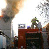 Explosion bei Silobrand in Ludesch