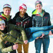 Letzter Auftritt des Snowboard-Kleeblatts beim Weltcup Montafon