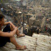 Großbrand in philippinischem Slum