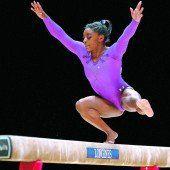 Simone Biles gewann noch zwei WM-Titel