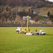 Versuchsbrunnen am Rhein getestet