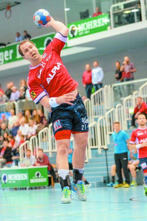 Michael Knauth feierte 2004, damals allerdings im Bregenz-Trikot, im EHF-Cup zwei Siege (31:30 und 23:20) gegen den SKA Minsk.