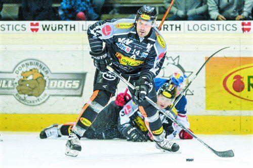 Mit zwei Toren drehte Dornbirns Kyle Greentree die erste Partie gegen Salzburg noch um.
