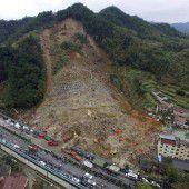Mindestens 21 Tote nach Erdrutsch in China