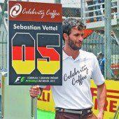 Ein Grid-Boy drückte die Stimmung bei Vettel