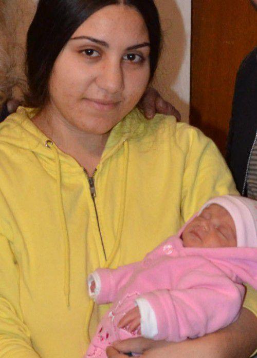 Sonia brachte Baby Raisa vor zwei Wochen zur Welt.